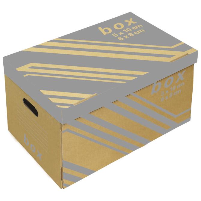 Kutija arhivska-kontejner za 6 registratora s poklopcem Fornax smeđa (000010951)